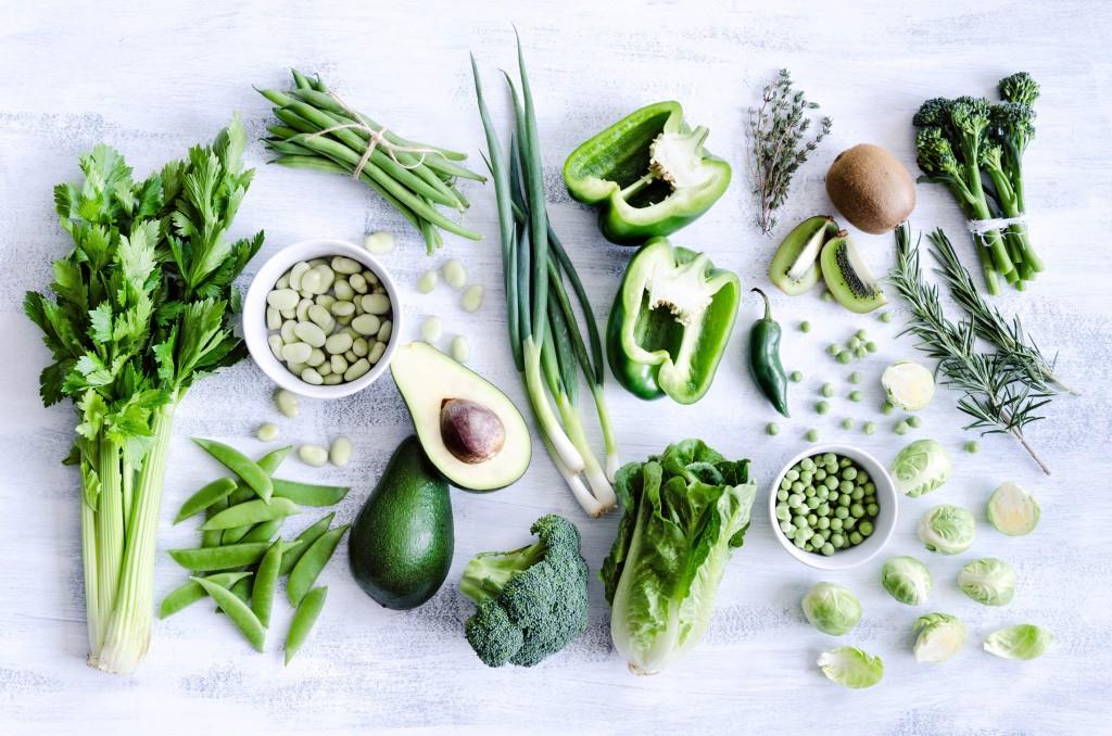 Healthy green vegetables
